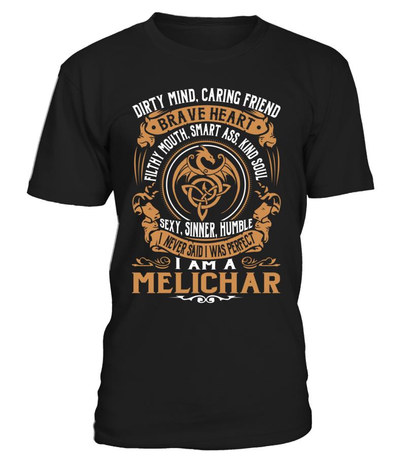 MELICHAR Brave Heart Last Name T-Shirt #Melichar