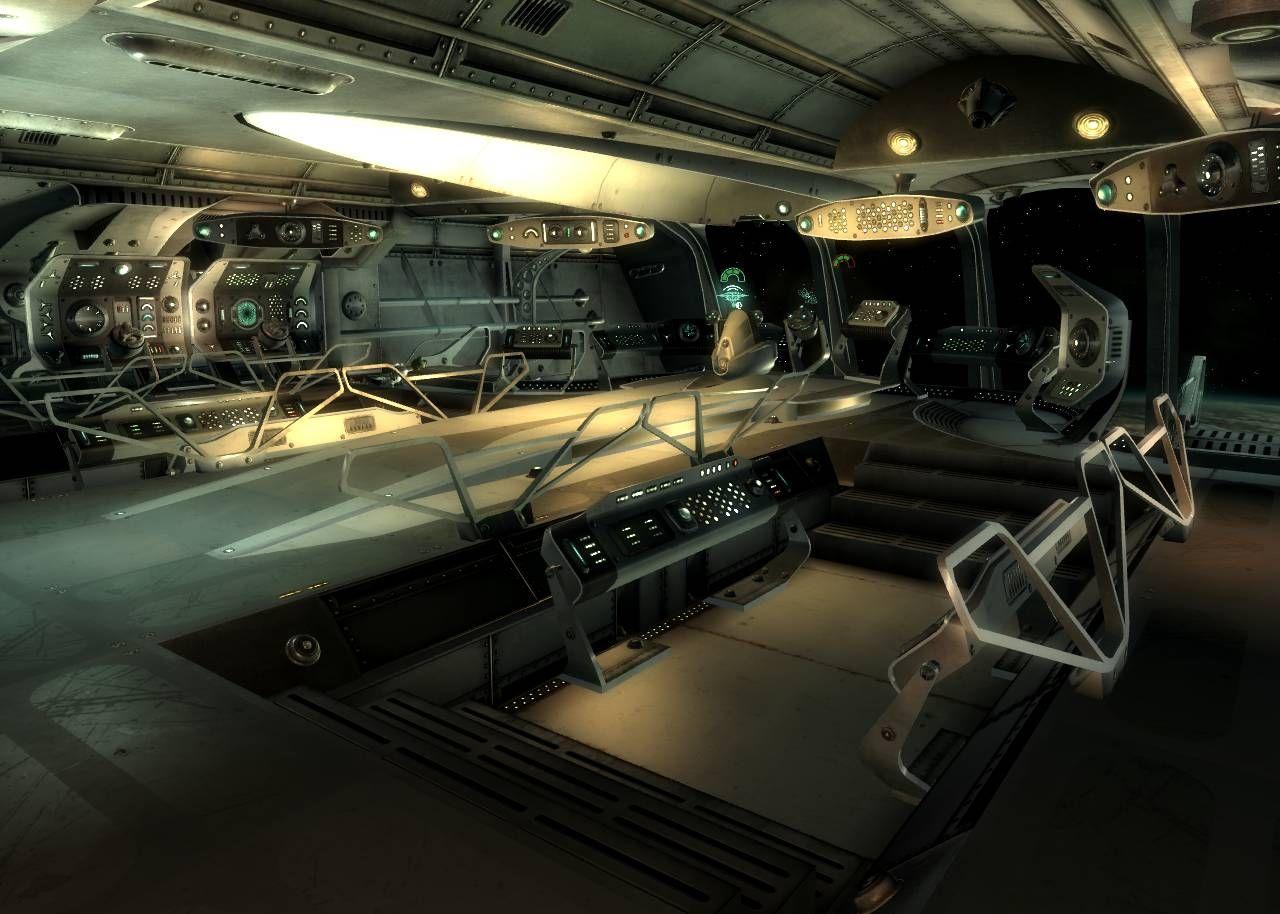 Bridge mothership zeta spaceship decking and bridge - Interior space ...