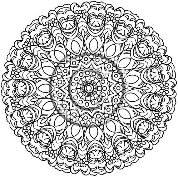 instant png coloring page hand drawn zentangle inspired