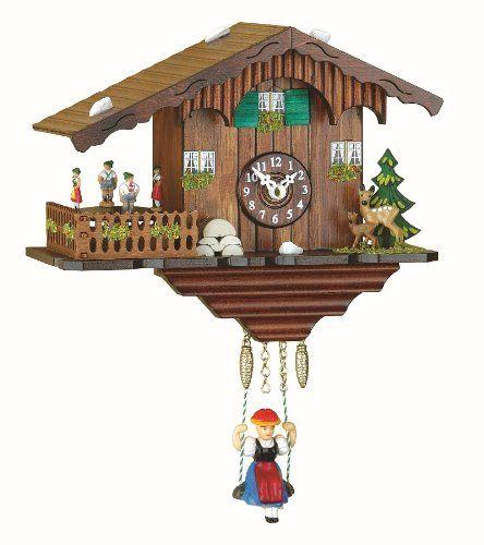 Black Forest Clock Swiss House Turning Dancers Incl Batterie Isdd Cuckoo Clocks Http Www Amazon Co Uk Dp B003crp6es Ref Cm Cuckoo Clock Forest Clock Clock
