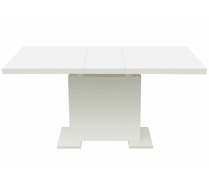 Axel High Gloss Extendable Dining Table In 2020 Extendable