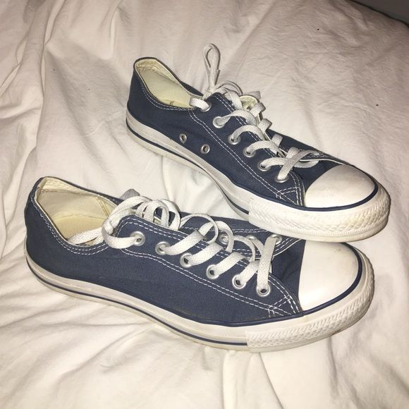 Navy Converse Barely worn! Converse Shoes Sneakers