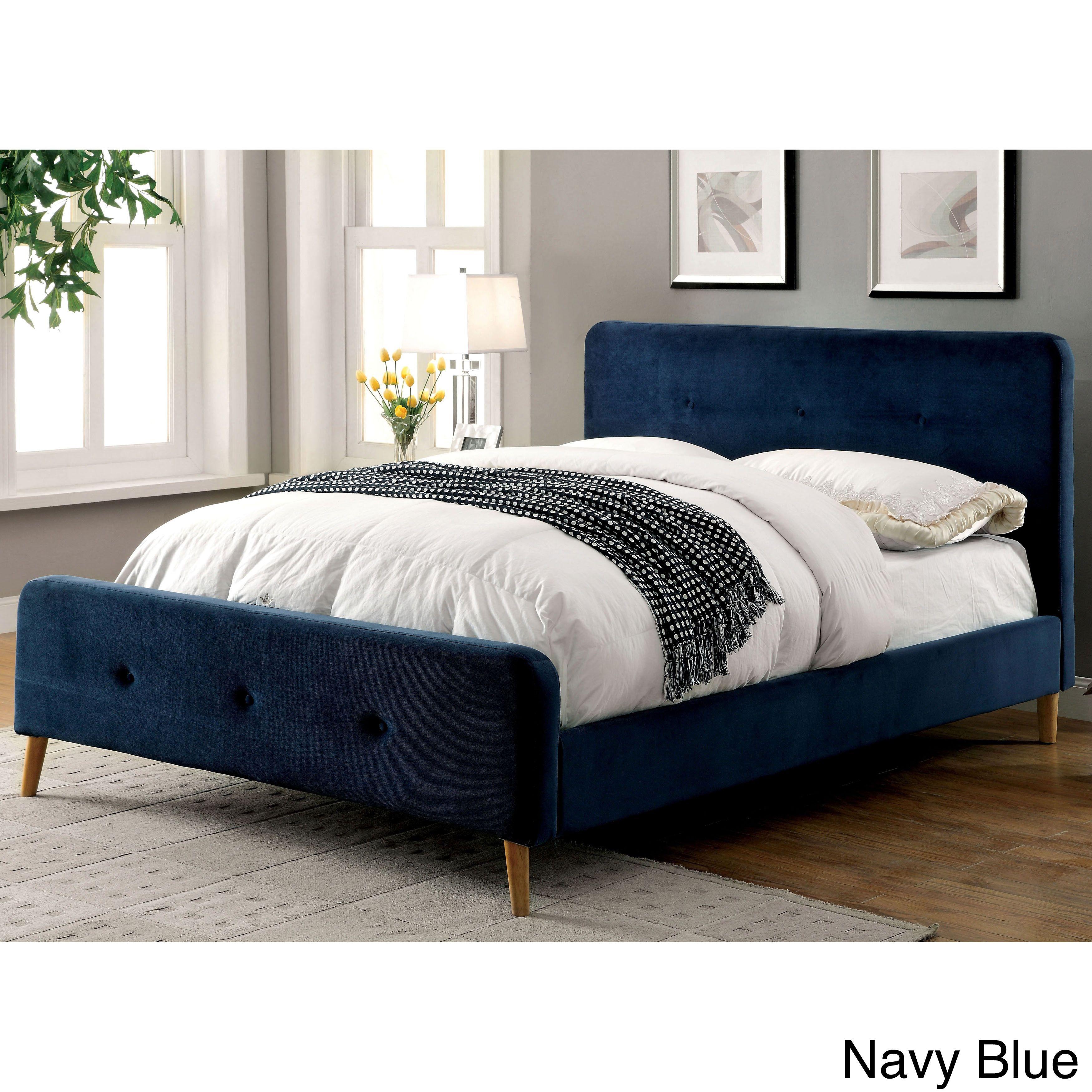 Furniture Of America Celene Mid Century Modern Tufted Flannelette  # Muebles Bedland