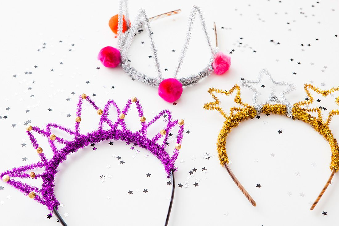 DIY New Year's Party Crowns