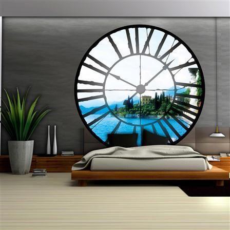 Décor mural, horloge, 208x208 cm (2 panels), papier intissé [Horloge]