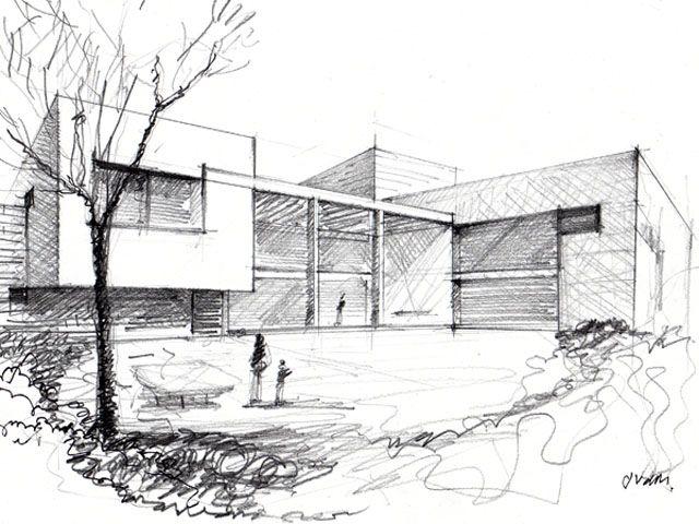 A Mano Alzada Con Perspectiva Bocetos Arquitectonicos Dibujo De Arquitectura Croquis Arquitectura
