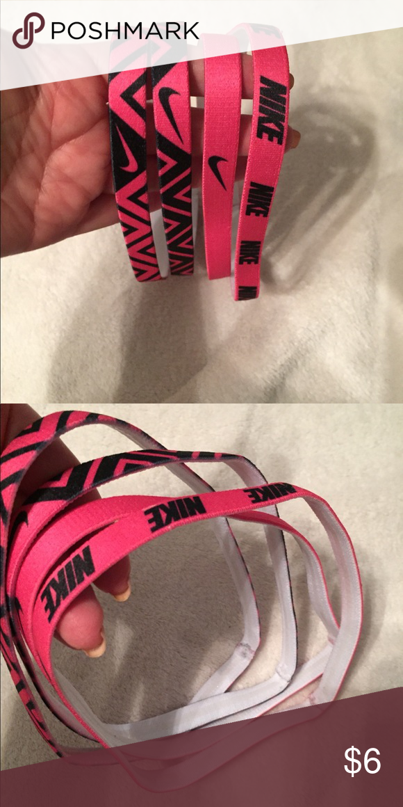Nike non slip headbands Never worn. Pink and black Nike Accessories Hair  Accessories 6d964672053