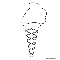 Black And White Ice Cream Cone Clip Art Clip Art Art Images Summer Clipart