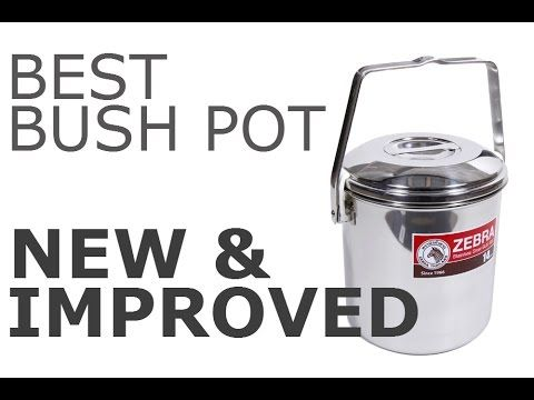 Bush Pot Even Better Zebra Loop Handle