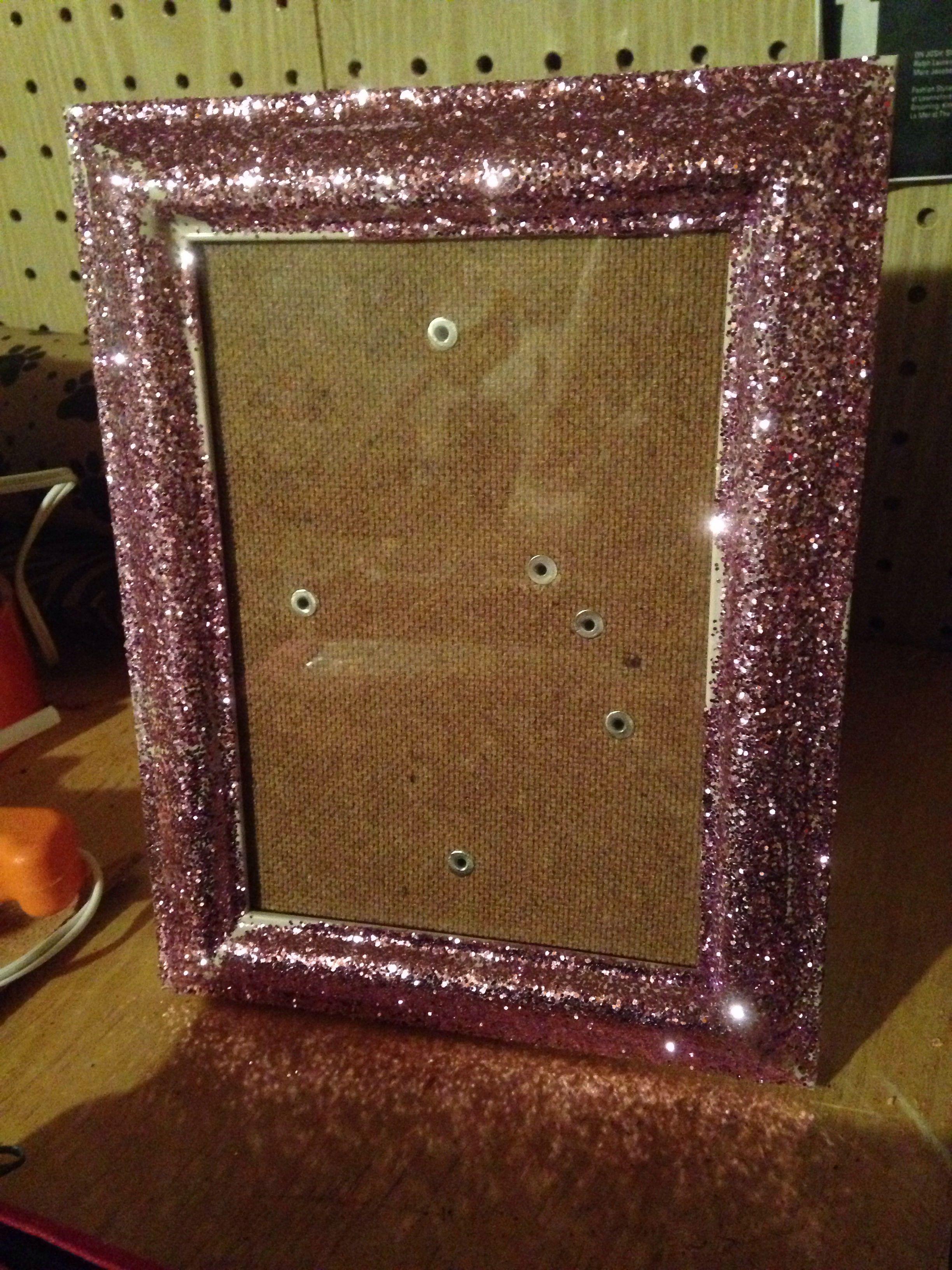 Diy Light Pink Glitter Frame Glitter Frame Diy Lighting Frame