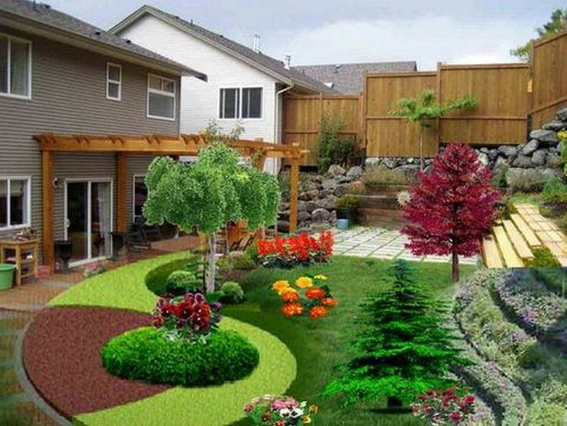 decorations unique plant and bushes decorations wooden pergola landscape design best modern front yard garden design - Landscaping Design Ideas For Front Of House