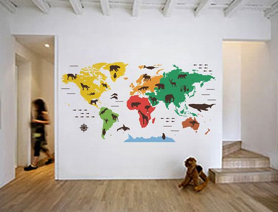 Animal outline counties world map wall decal kids by worldmaps animal outline counties world map wall decal kids by worldmaps 17800 gumiabroncs Choice Image