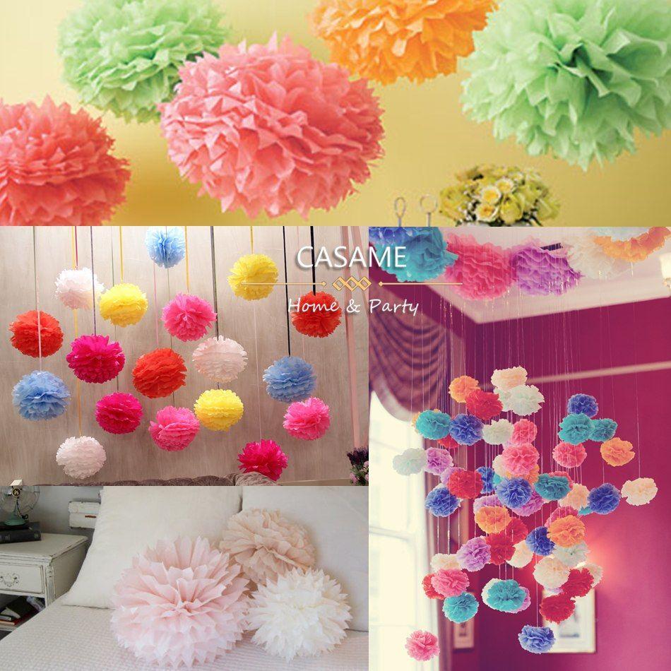 Wedding decorations paper  Wedding Decorative Paper Pompoms Balls Home Decoration Tissue