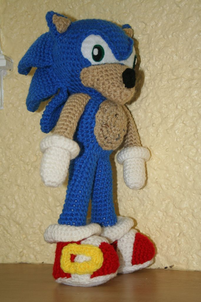 Crochet Sonic Result - Made for my nephew. Turned out cute and the ...