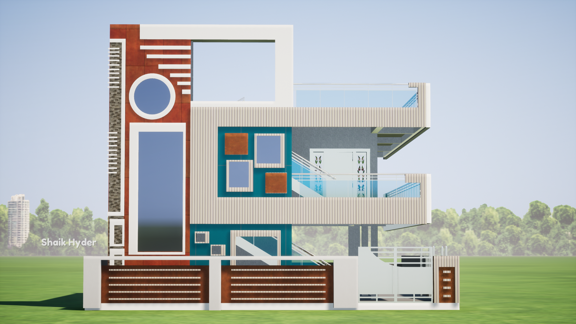 45 X 60 Modern Elevation Dream House Exterior House Designs Exterior House Front Design