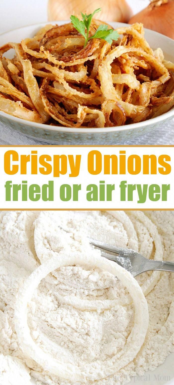 Homemade Crispy Fried Onions - Air Fryer Directions Too!