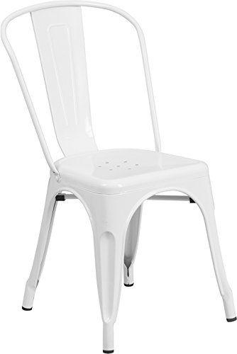 Flash Furniture Metal Chair White Flash Furniture zon
