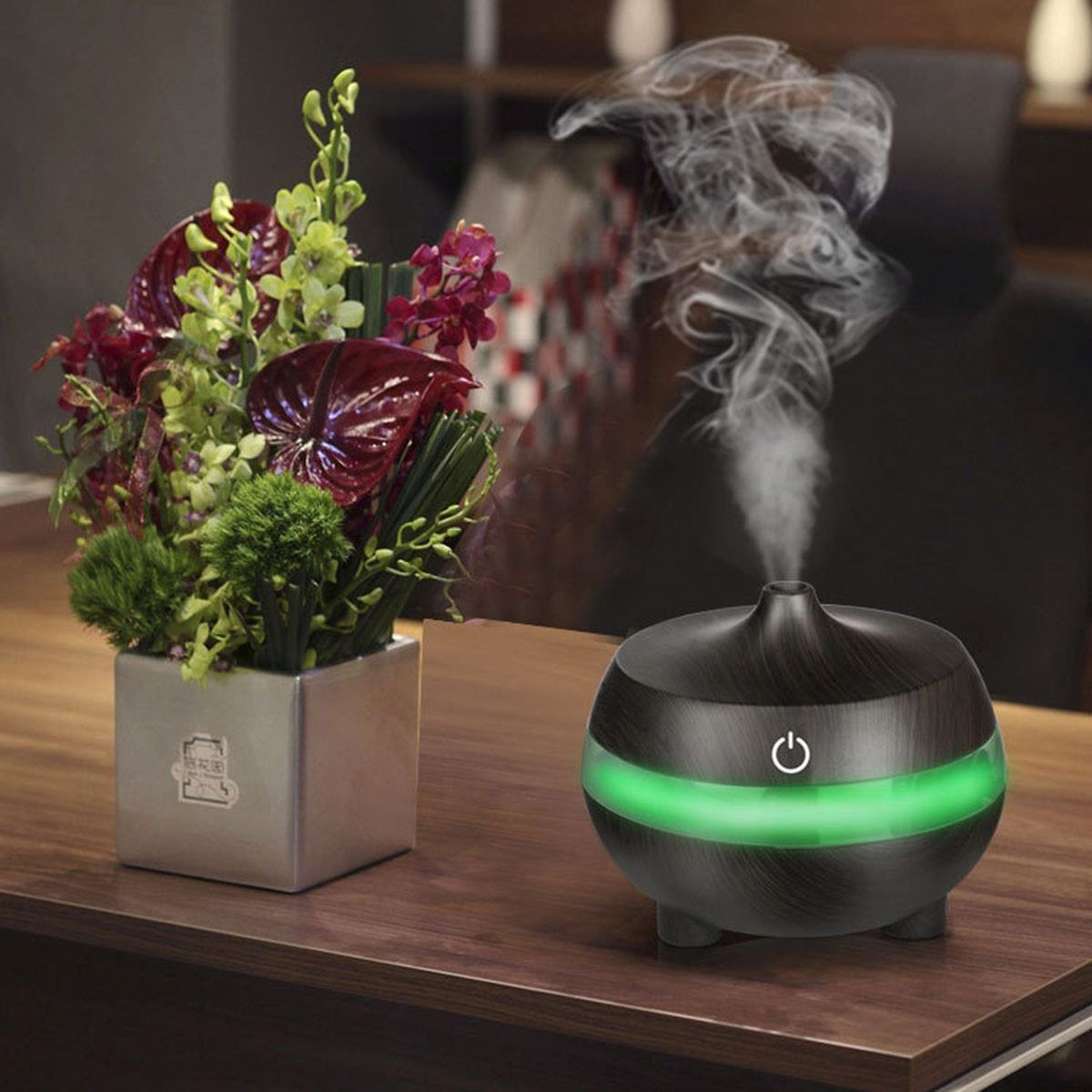USB Aroma Essential Oil Diffuser Ultrasonic Cool Mist