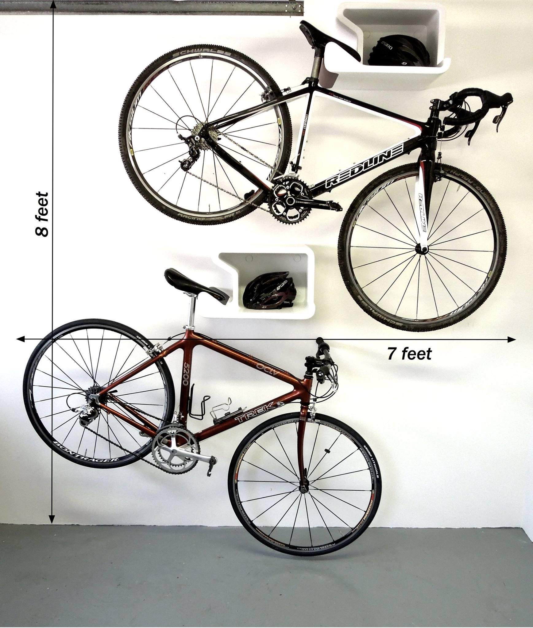 Double Trouble   How Much Wall Space To Hang Two Bikes???