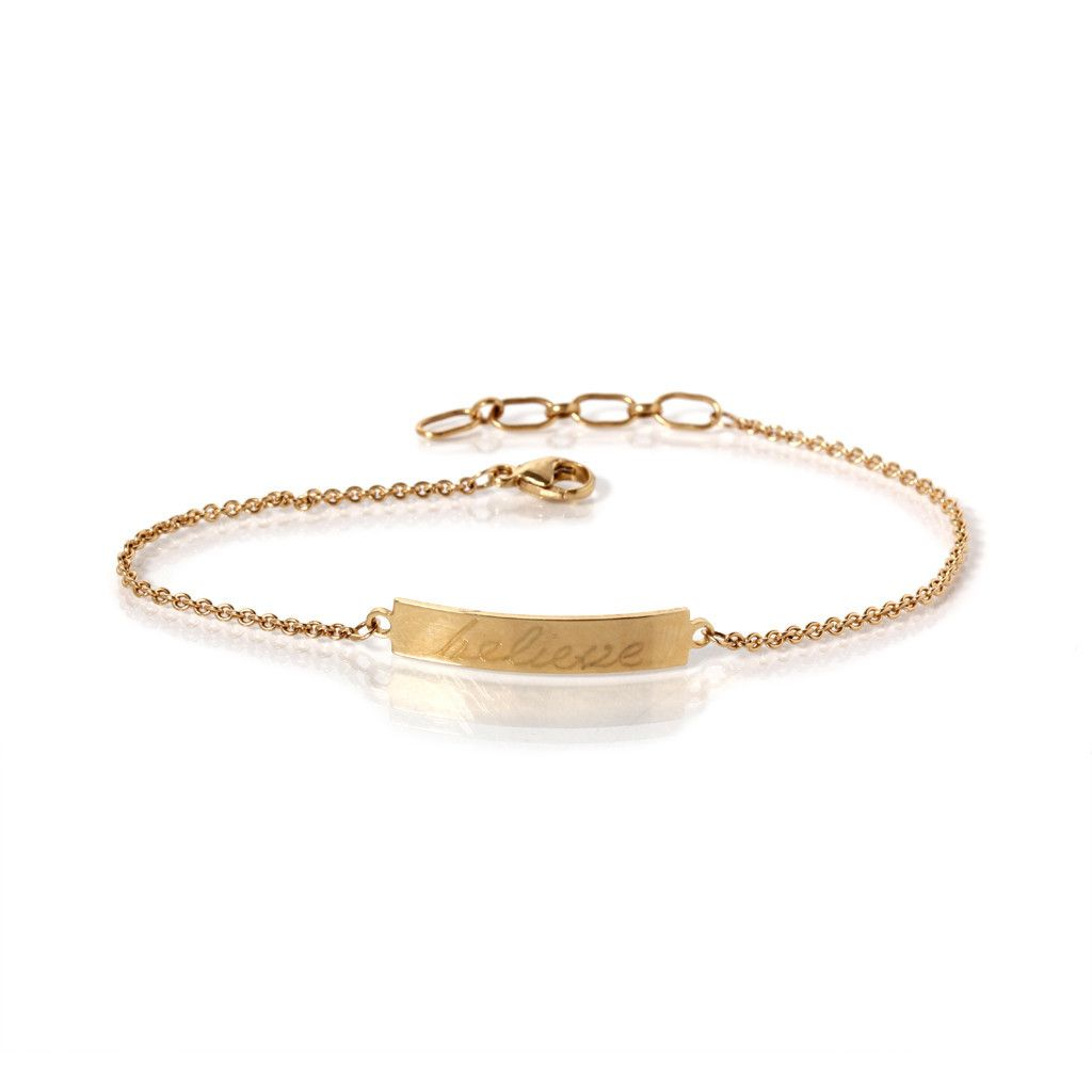 441bbdc3a4992 14k gold ID bracelet - Zoe Chicco - customizable