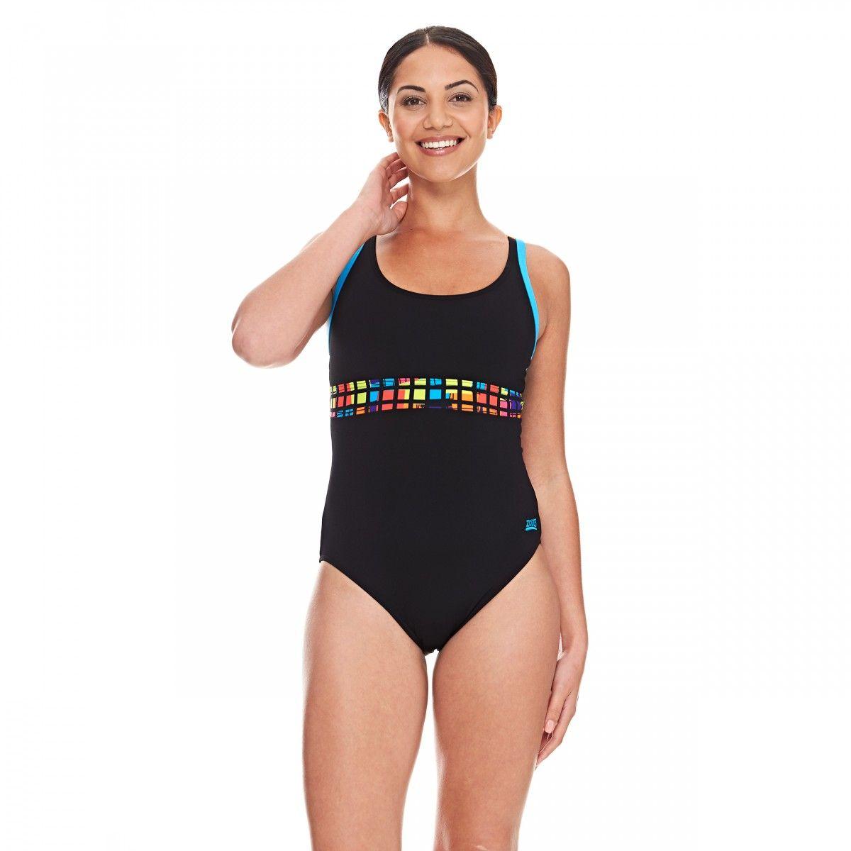 edfb4c84b1073 Zoggs Women's Quad Laserback Swimming Costume - Sizes 8-18 | Women's ...