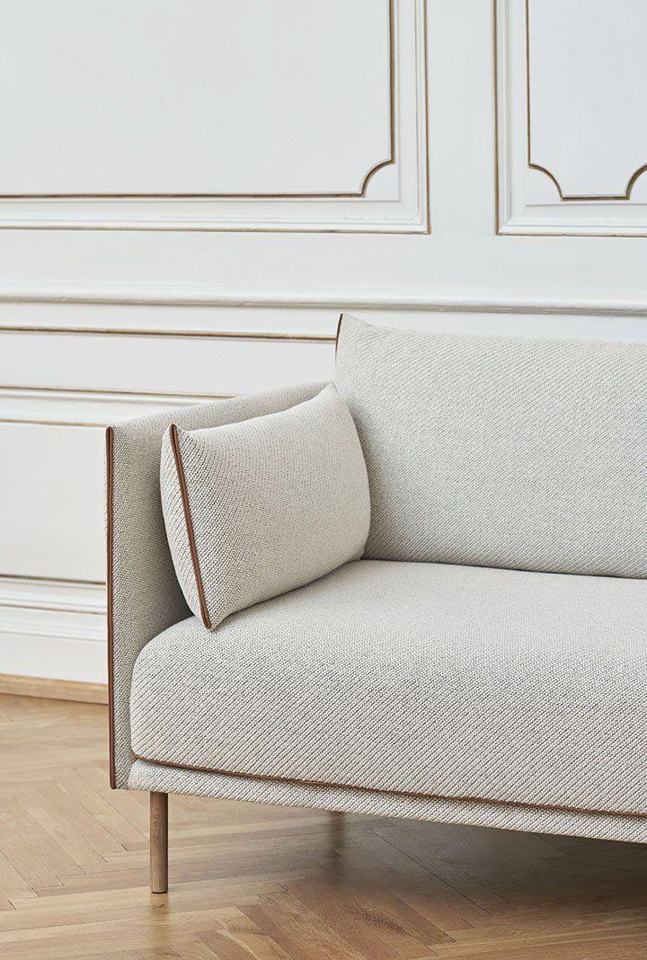 Silhouette Three-Seater Sofa - Cream