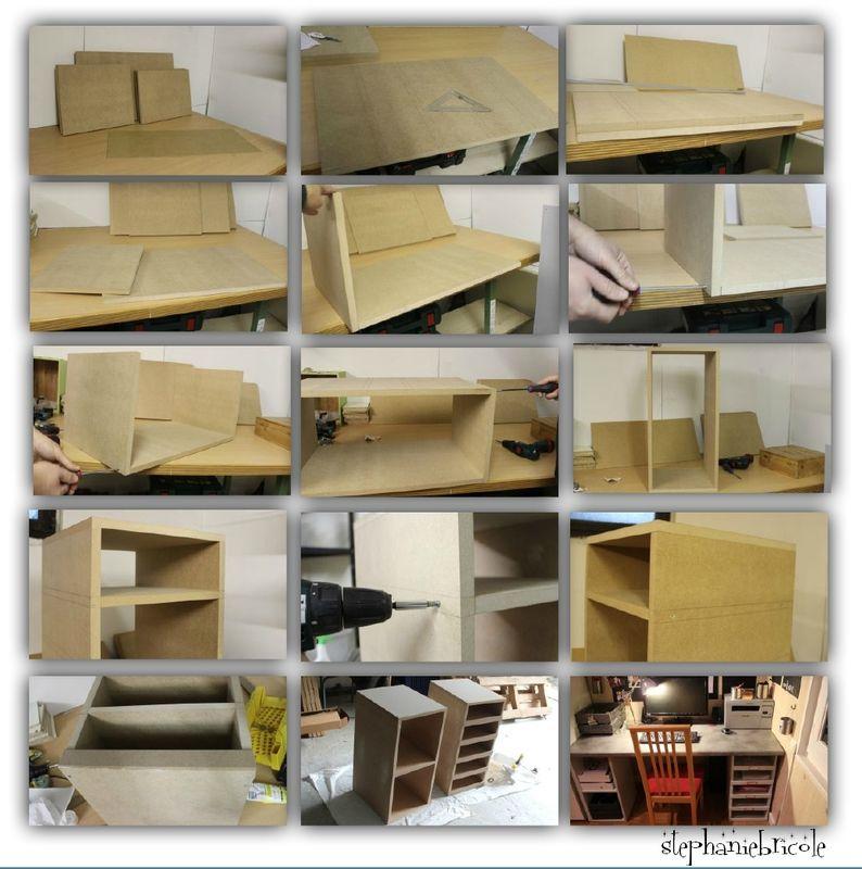 Fabriquer soimme un bureau en bois Diy cabinets Island bar