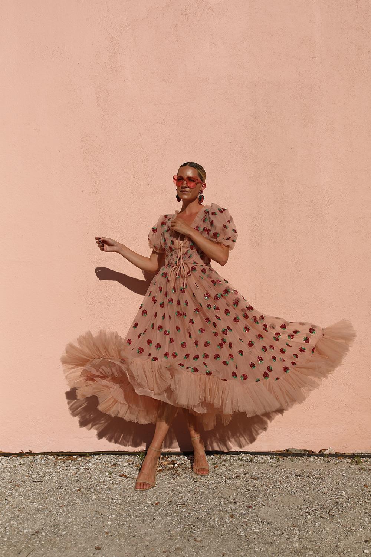 A Strawberry Tulle Dress Strawberry Dress Style Fashion [ 1500 x 1000 Pixel ]
