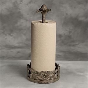 I need this...GG Metal Paper Towel Holder.  A beautifully forged cast metal in dark brown with black highlights. A rich and elegant design with a removable decorative Finial. Nicely designed to compliment any kitchen counter top and decor. Its bronze finish and elegant design makes it an all time favorite.