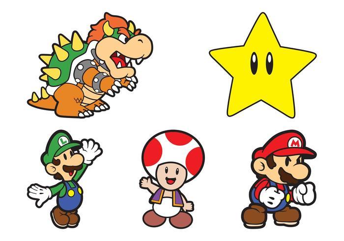 Personajes Super Mario Descargar Vectores Gratis Illustrator Graficos Plantillas D Mario Characters Cartoon Character Pictures Christmas Cartoon Characters