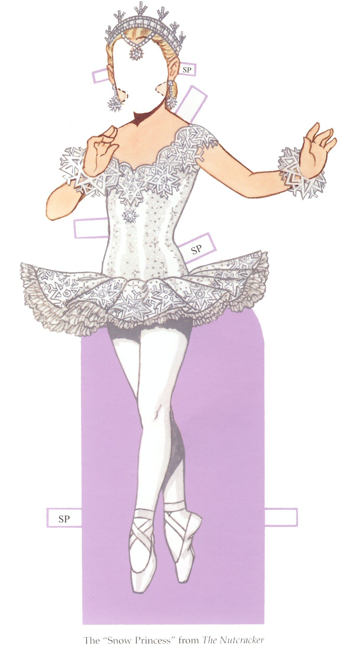"""""""Ballet Princesses Paper Doll"""" by Tom Tierney; Dover Publications (1 of 8)"""