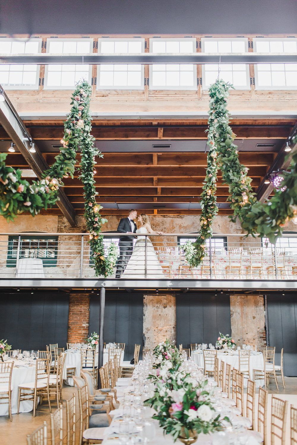 Hold Up Was This Industrial Baltimore Wedding Venue Touched By A Green Thumb Draped Garlan Baltimore Wedding Venue Baltimore Wedding Maryland Wedding Venues