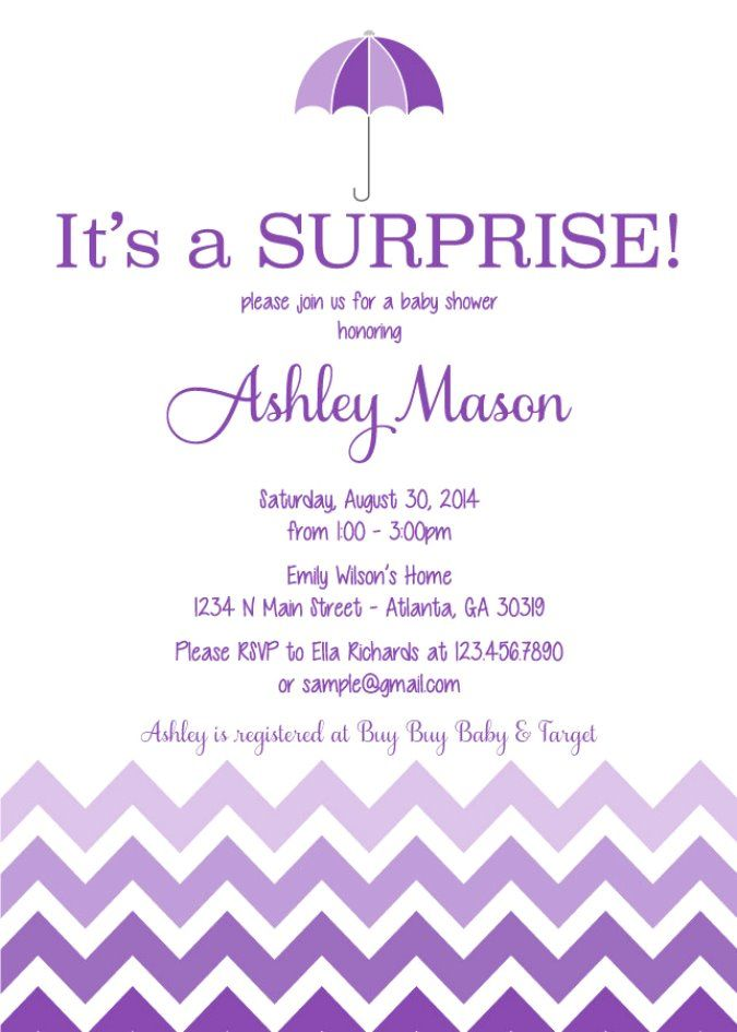 surprise baby shower invitation wording 7 | Cool Baby Shower Ideas ...