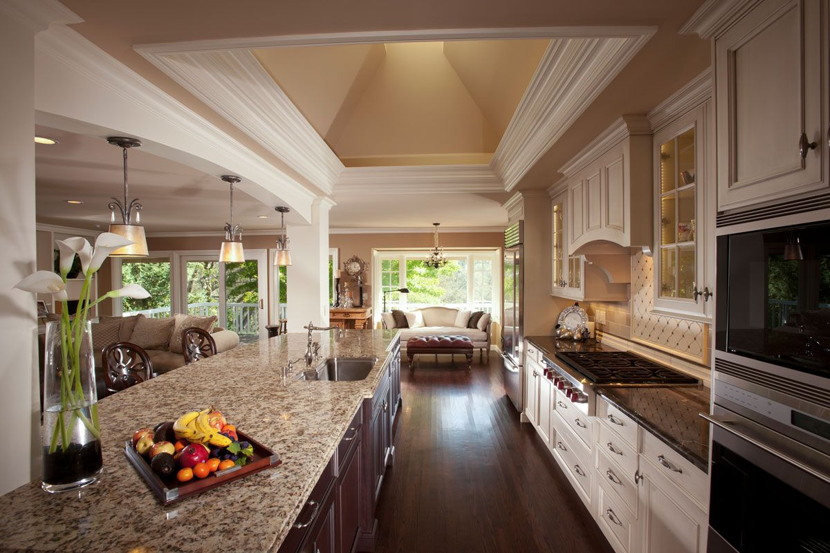 Great room kitchen great room in monte serreno ideas for Great kitchen remodel ideas