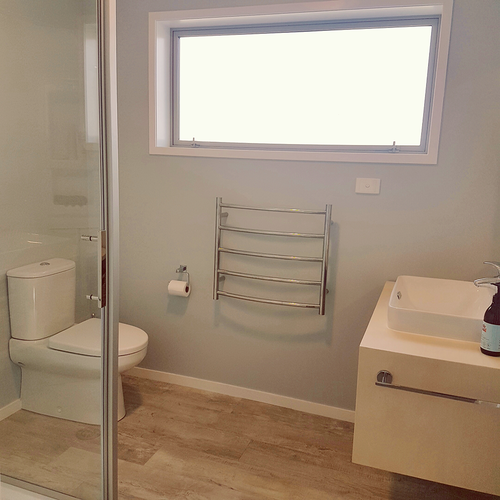 Neutral Colors For Small Powder Rooms: The Rescued Apartment Bathroom Now Has A New Home In A