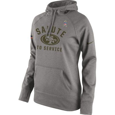 newest 5241d 5776a Women's San Francisco 49ers Nike Gray Salute to Service ...