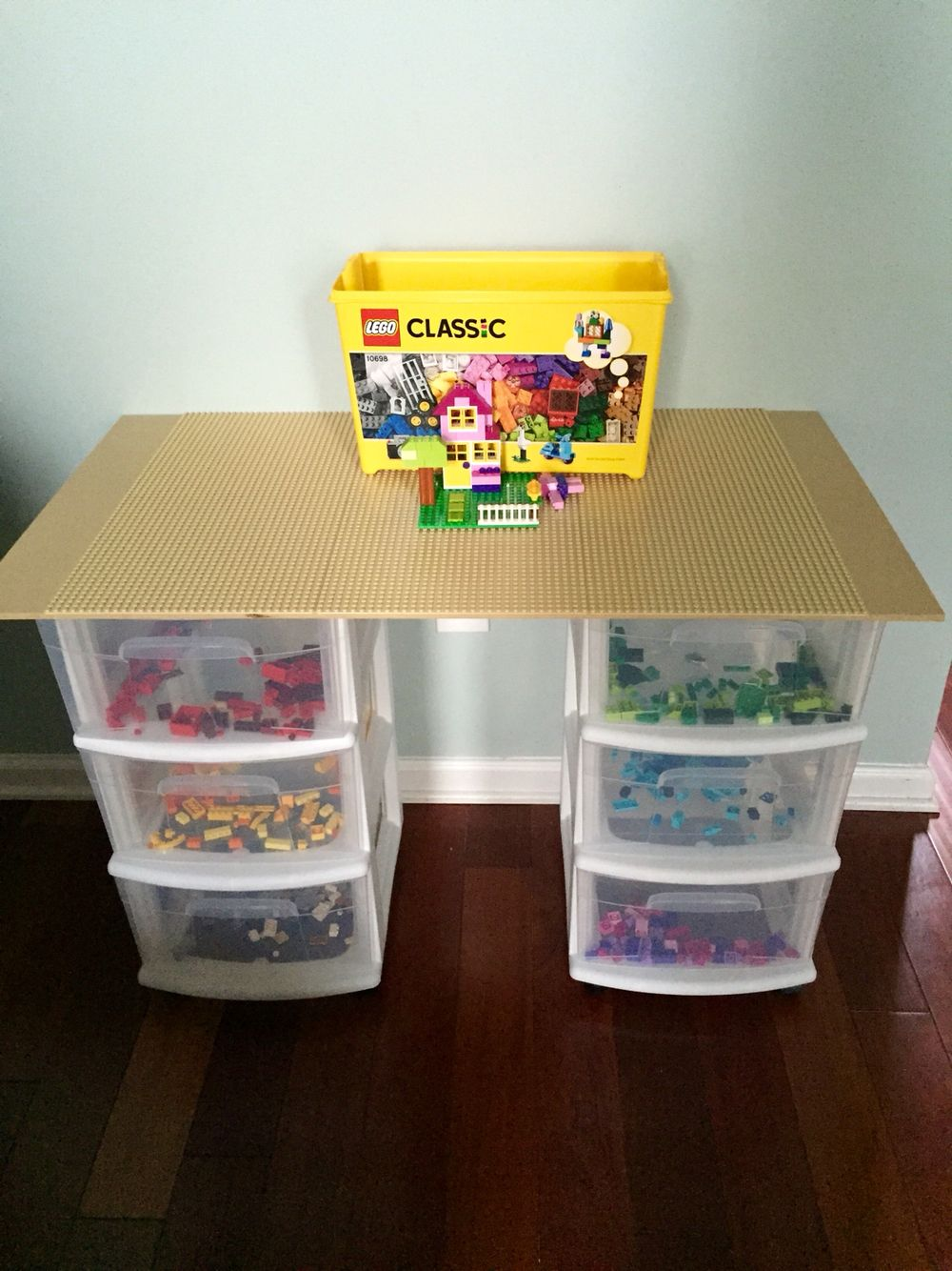 Lego Table I Made For My Son With A Velcro Top So It Can