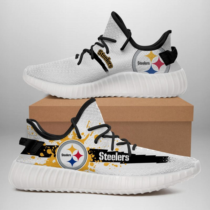 PITTSBURGH STEELERS LIMITED EDITION WHITE YEEZY SNEAKER