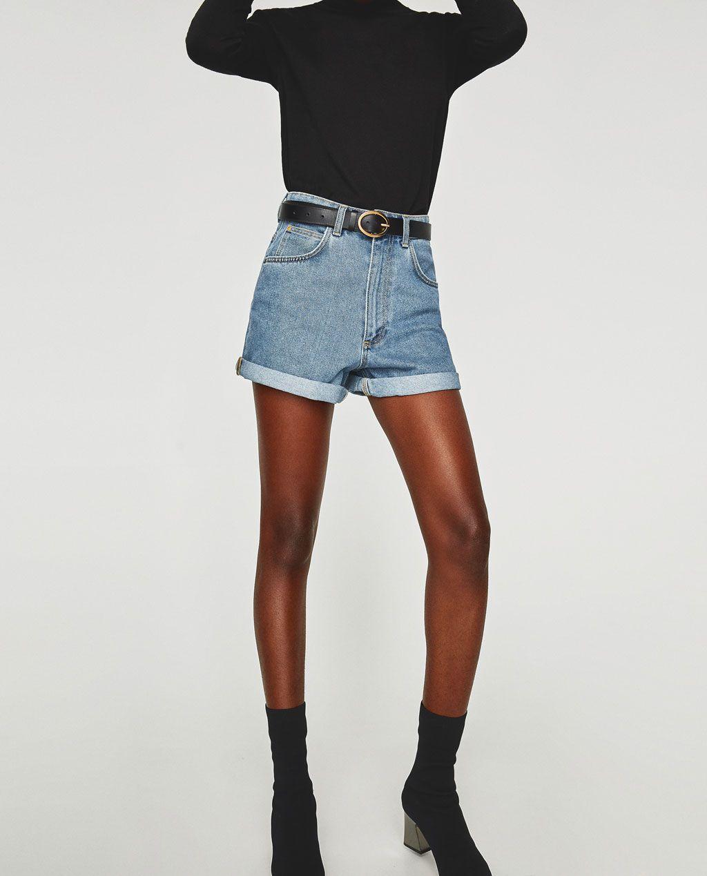 short en jean femme zara,Femme Shorts en