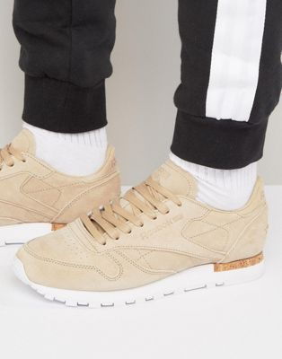 Reebok Classic Leather LST Suede Trainers In Beige BD1900