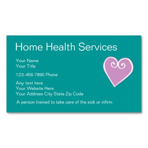 Home Health Nurse Business Cards Zazzle Com Home Health Nurse Home Health Home Health Services