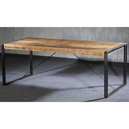 Table Rectangulaire Fer Et Accacia LOFT De à Cm à - Table salle a manger 140 cm pour idees de deco de cuisine