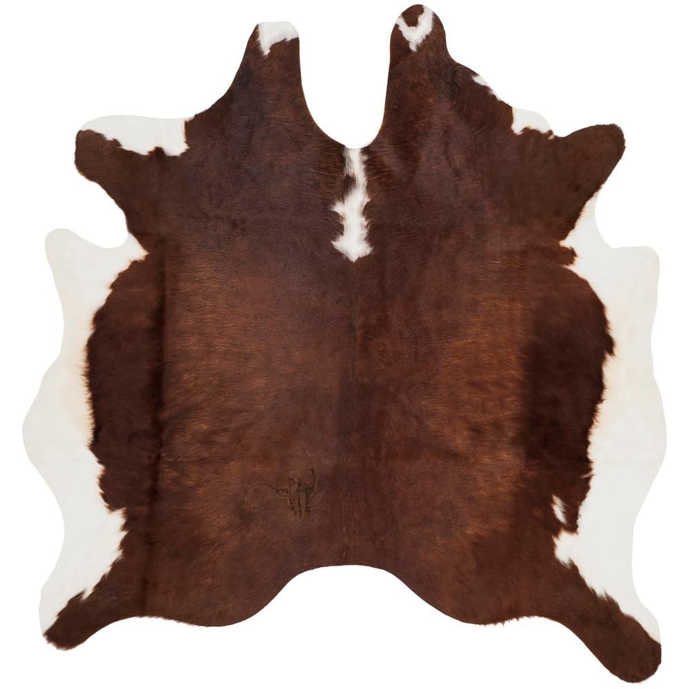 Safavieh Cow Hide Brown White 4 Ft X 6 Ft Area Rug Cow Hide