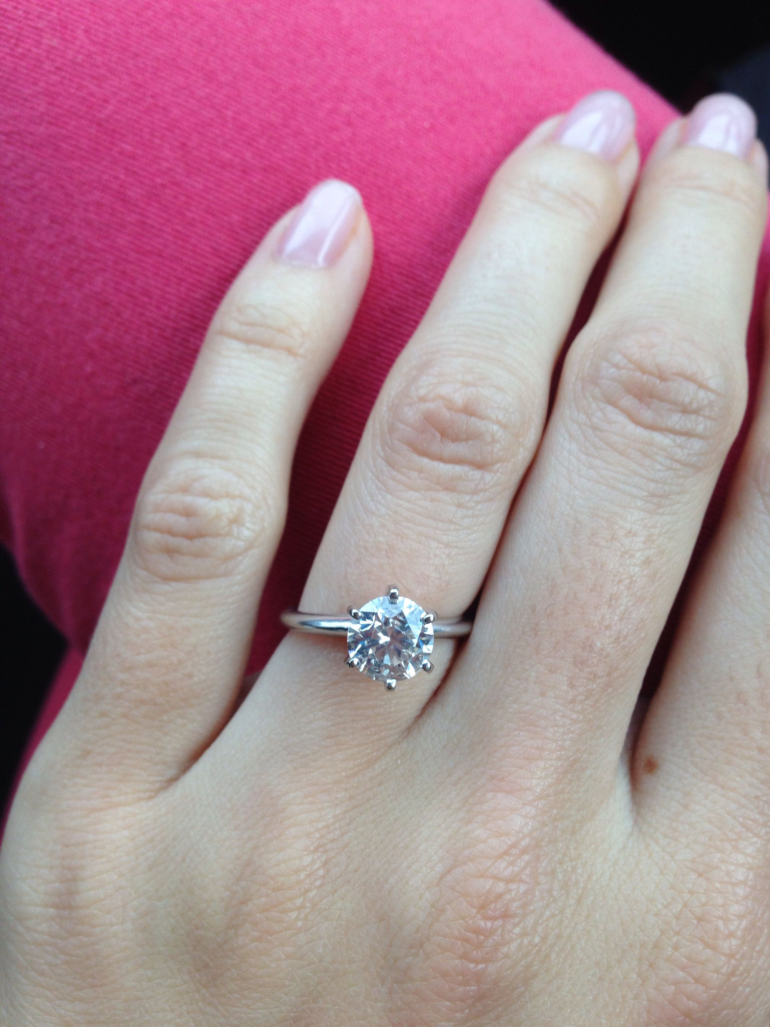 1 57 Ct Tiffany Style Solitaire Engagement Ring Solitaire Engagement Ring Engagement Rings Solitaire Engagement
