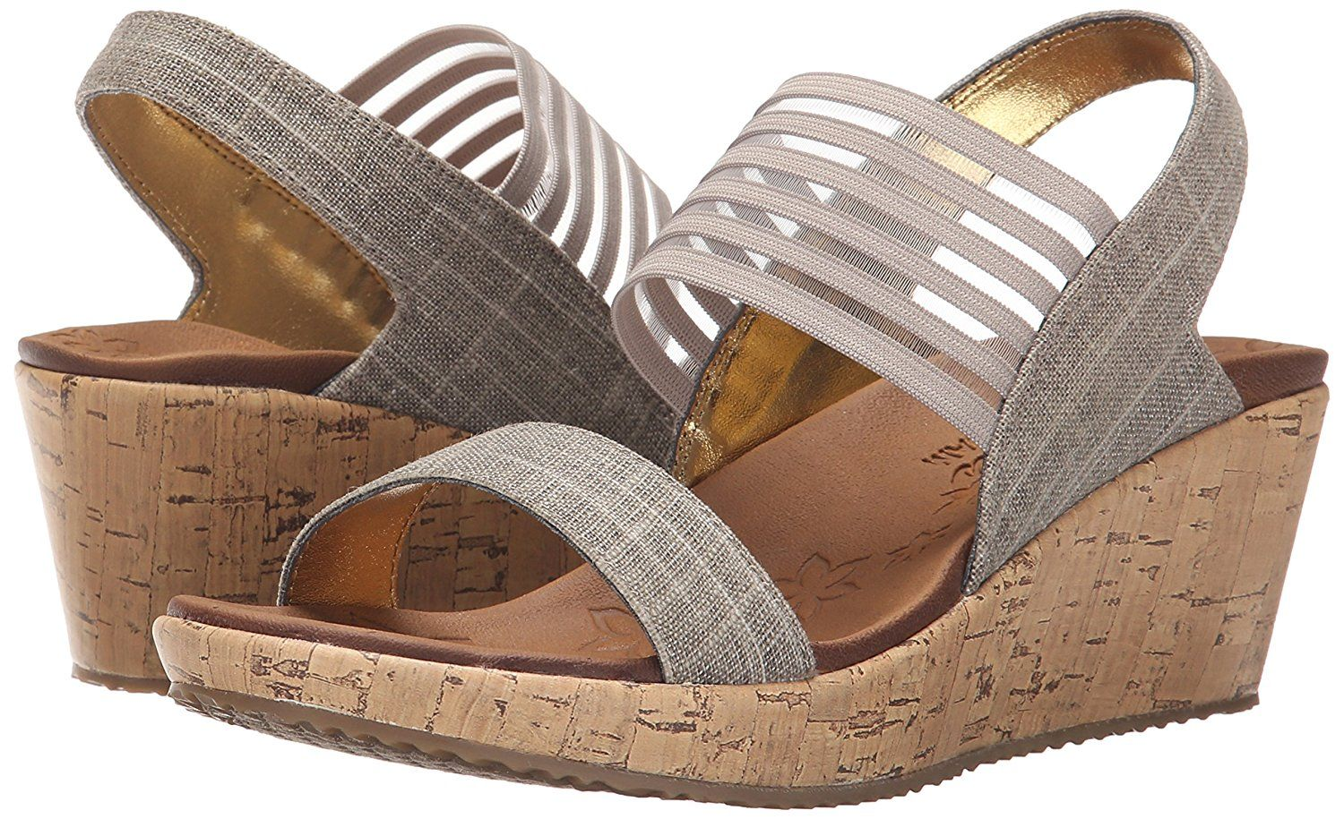 Skechers Cali Women S Beverlee Smitten Kitten Wedge Sandal Want To Know More Click On The Image This Is An Affilia Skechers Womens Sandals Skechers Wedges