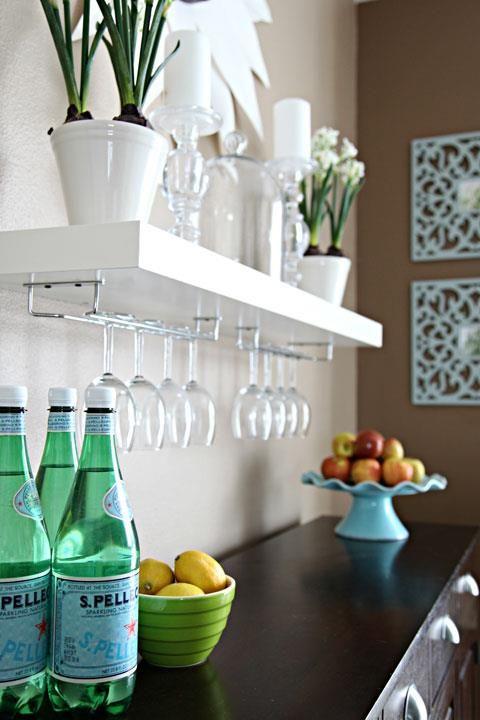 Rangement Des Verres A Vin Detournement Meuble Ikea Salle A Manger Ikea Diy Maison
