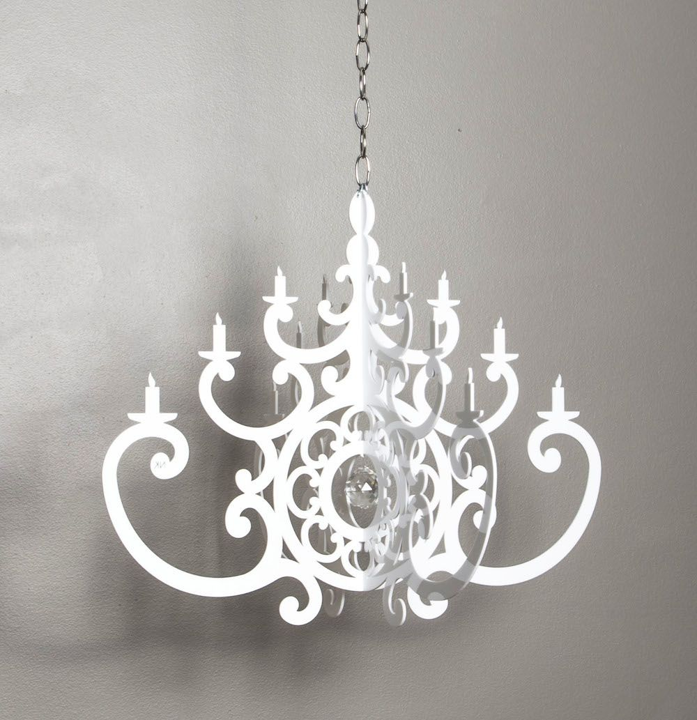 New in our online boutique Acrylic White Chandelier Mobile – White Plastic Chandelier