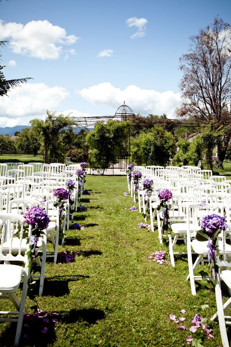 Outdoor wedding ceremony chair decorations - Weddings Wedding Ceremony Decorationsoutdoor