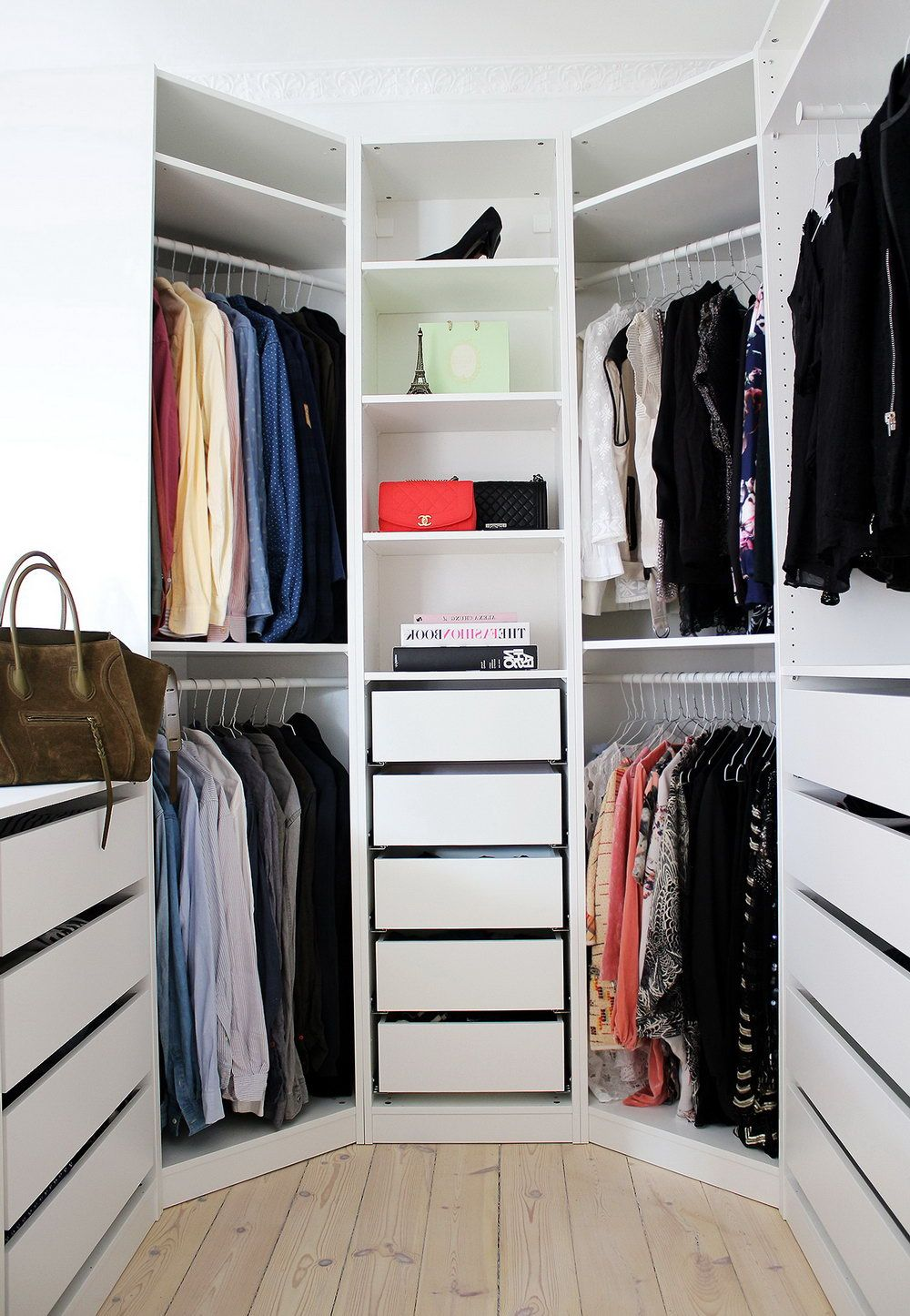 Walk in closet ikea pax closet pinterest ikea pax for How to design a master bedroom closet