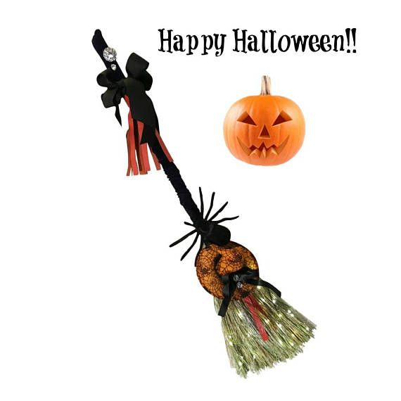 halloween broom broomstick for halloween halloween wall dcor halloween wall hanging fall wall dcor holiday lighting whisk your way to beautiful